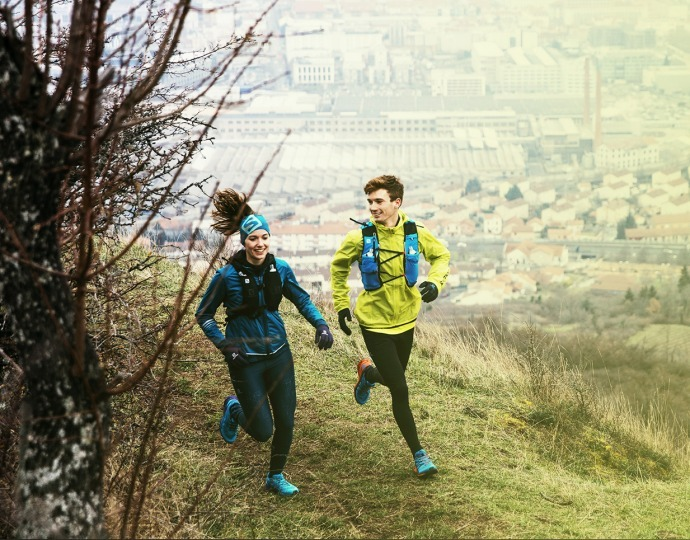 Trail running training in the city