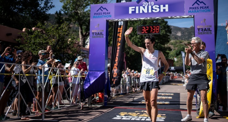 Kilian Jornet wins Pikes Peak Marathon for the 2nd time, Maude Mathys shatters women's course record