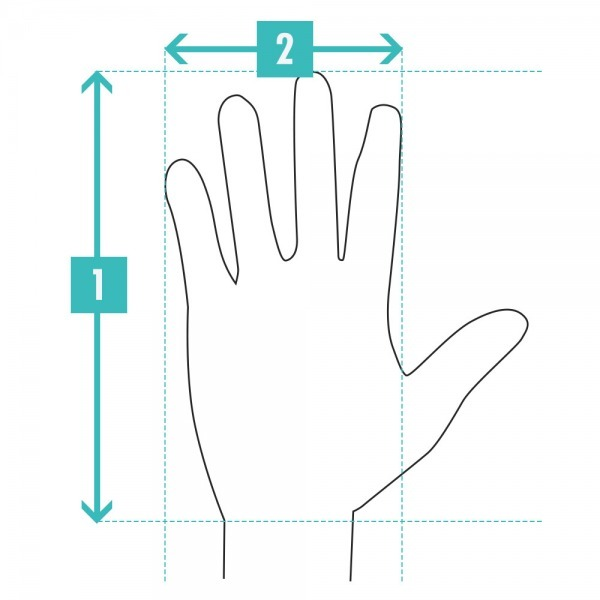 ecbbb8abd9 Hand Length  Measure from the tip of your middle finger to the base of your  palm ...