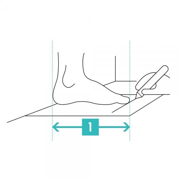 picture about Printable Sock Measurement Chart identify Mens size chart Salomon